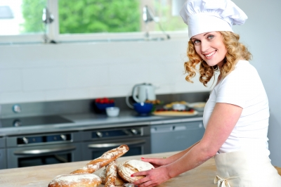 Giovene ragazza chef